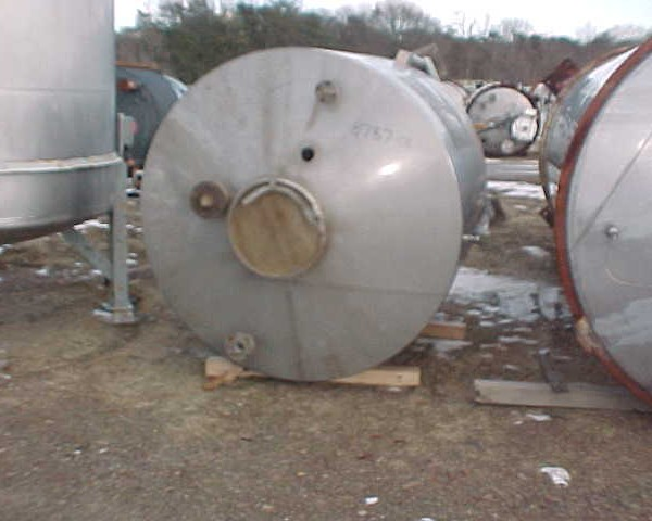 800 Gallon 304 Stainless Steel Vertical Tank, 5'4″ Dia. X 5′ Straight Side