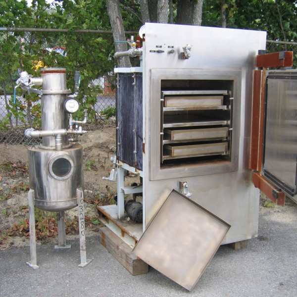 20 Sq. Foot, 5 Shelves JVM Industries Stainless Steel Tray Dryer Skid
