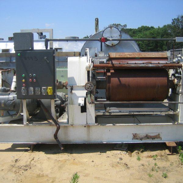 24″ X 36″ Overton Model 36CSP Carbon Steel Single Drum Flaker