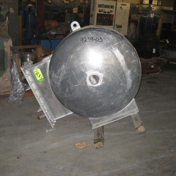 800 SCFM Semco Mdl 124 Stainless Steel Fintube Air Cooled Heat Exchanger