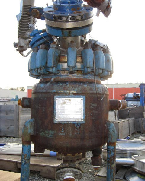 10 Gallon 300 PSI Internal, 165 PSI Jacket 316 Stainless Steel Reactor