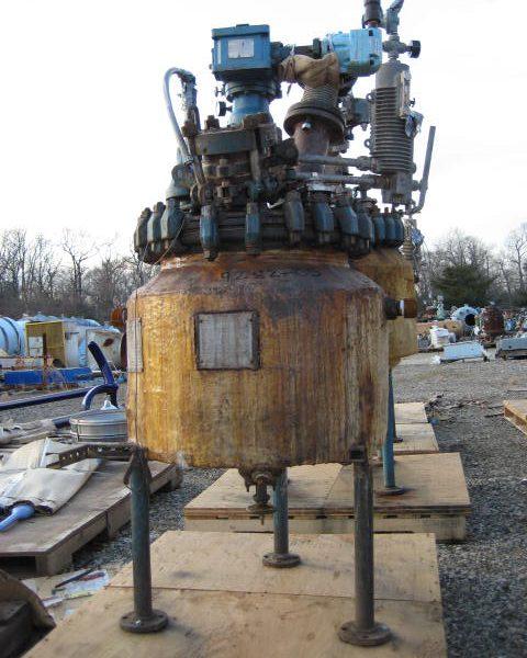 20 Gallon 150 FV Internal, 115 Jacket Pfaudler Glass Lined Reactor