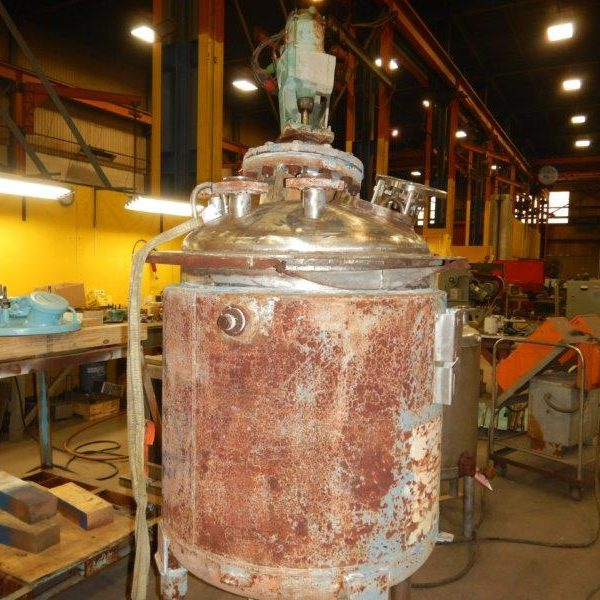 100 Gallon 50 PSI Internal, 100 PSI Jacket 316L Stainless Steel Reactor