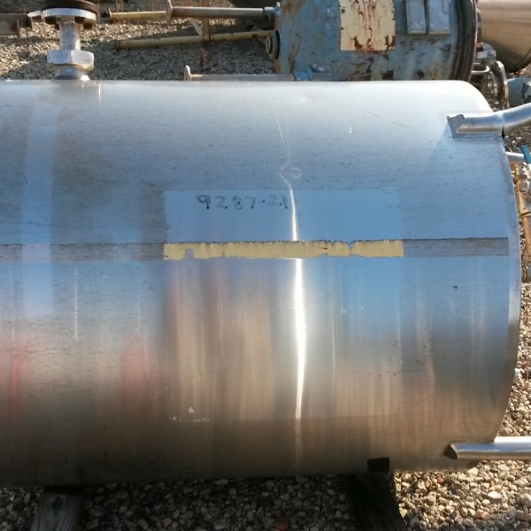 150 Gallon Stainless Steel Vertical Tank, 36″ Dia. X 35″ Straight Side