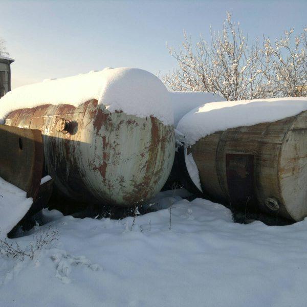 6000 Liters Stainless Steel Horizontal Storage Tank