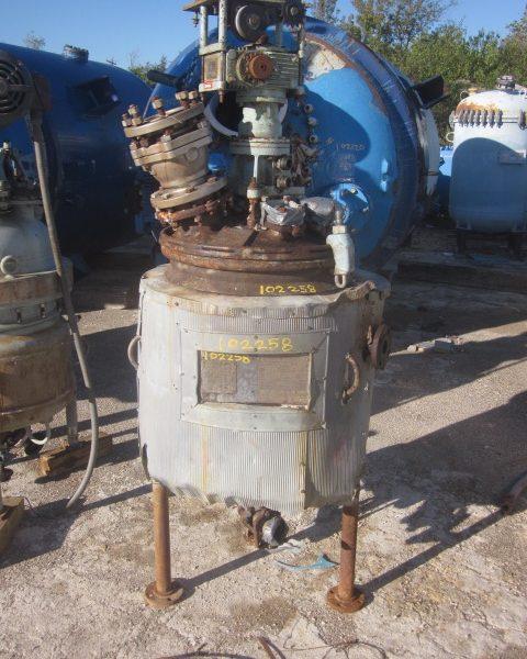 30 Gallon 150 FV Internal, 125 Jacket Pfaudler Glass Lined Reactor