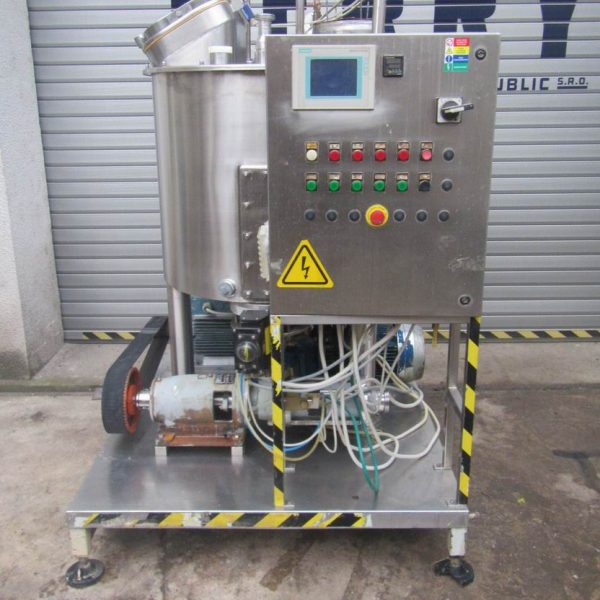 400 Litre Prima Model PPS 200 Stainless Steel Vertical Mixing Vessel