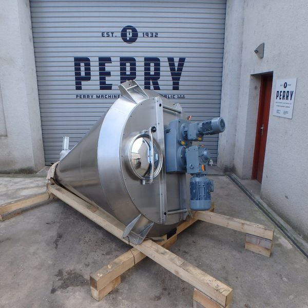 1,000 Litre PERRYmix  Model HV 1000 304 Stainless Steel Conical Mixer, New