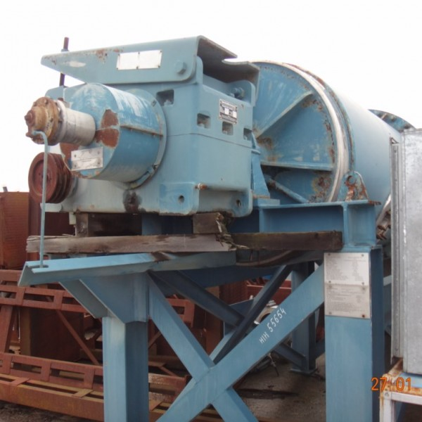 48″ X 84″ Newell Dunford Stainless Steel Jacketed Ball Mill