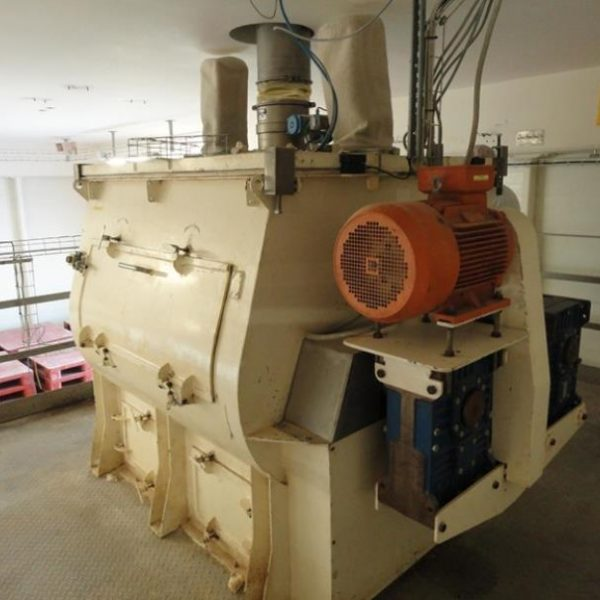 1400 Litre Gramec Model G1400 Stainless Steel Twin Shaft Paddle Mixer