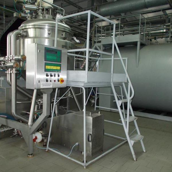234 Gallon 30 KW Koruma Stainless Steel Vacuum Mixer