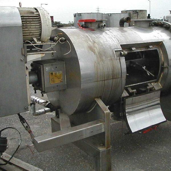 30″ X 5′ Cincinnati Butchers Supply Stainless Steel Jacketed Powder Blender Dryer