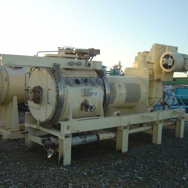 47″ X 4′ Krauss Maffei 316TI Stainless Steel Batch Vacuum Paddle Dryer
