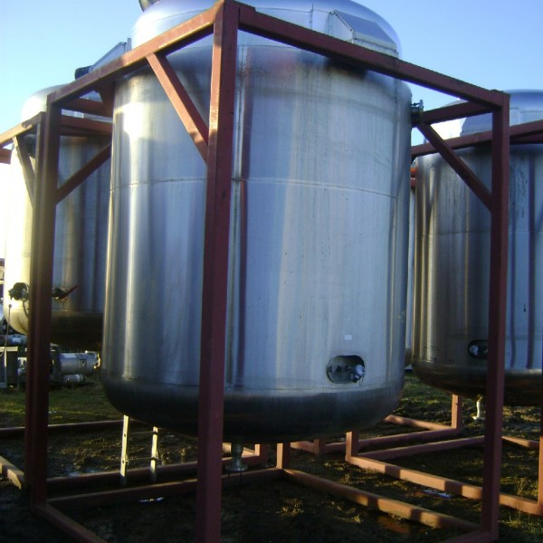 9,727 Litre Websters Stainless Steel Vertical Jacketed Contra-Rotating Mixing Vessel, 2000mm Dia x 2380mm Straight Side