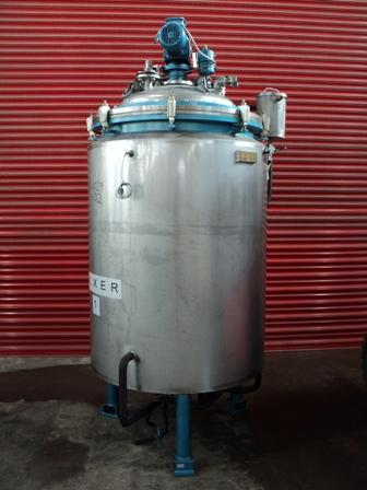 1,000 Litre, <0.3 Bar Internal, 2 Bar Jacket, Stainless Steel Reactor