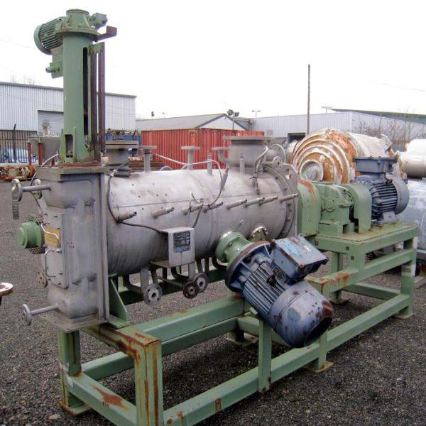 300 Litre Lödige Model KM-300D Stainless Steel Continuous Ploughshare Mixer