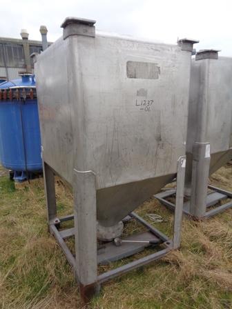 1500 Litre IBC Stainless Steel Bin