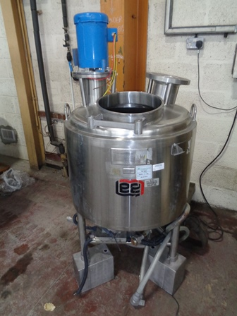 114 Litre Lee Model 30U Stainless Steel Jacketed Mixing Vessel, 670mm Dia x 500mm Straight Side