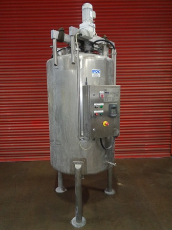 1,000 Litre Stainless Steel Vertical Mixing Vessel, 900mm Dia x 1420mm Straight Side