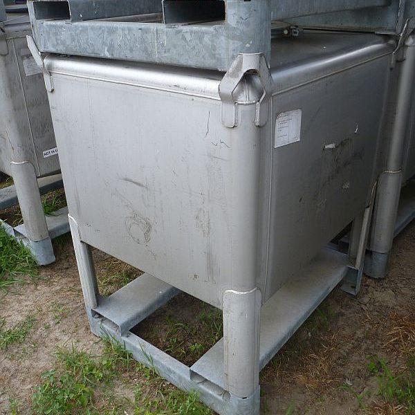 1030 Litre Gallay Stainless Steel Rectangular Storage IBC Tank