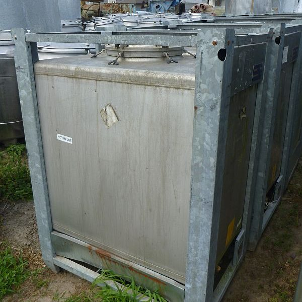 1000 Litre Stocklin Stainless Steel Storage IBC Tank