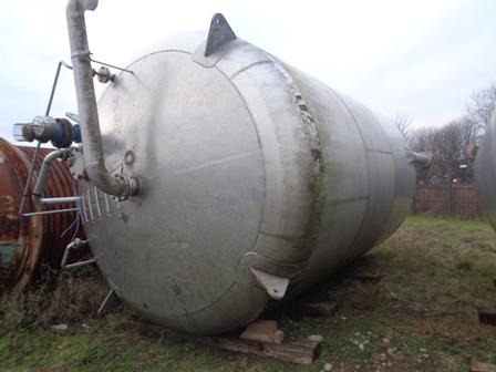 54,500 Litre Stainless Steel Vertical Storage Vessel