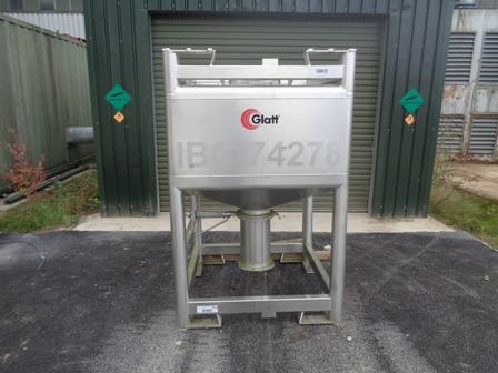 1000 Litre Glatt Stainless Steel IBC