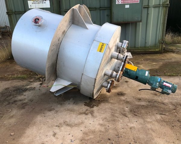1,000 Litre Stainless Steel Mixing Vessel