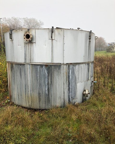 14,000 Litre 304 Stainless Steel Vertical Storage Tank, 3000mm Dia x 2000mm Straight Side