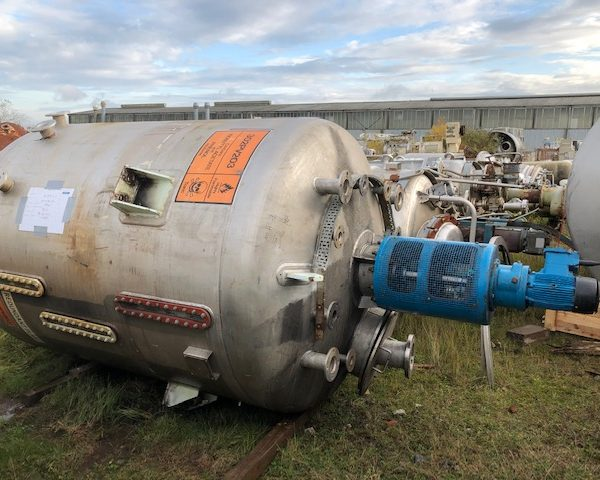 6,800 Litre Stainless Steel Mixing Vessel, 2000mm Dia x 2100mm Straight Side