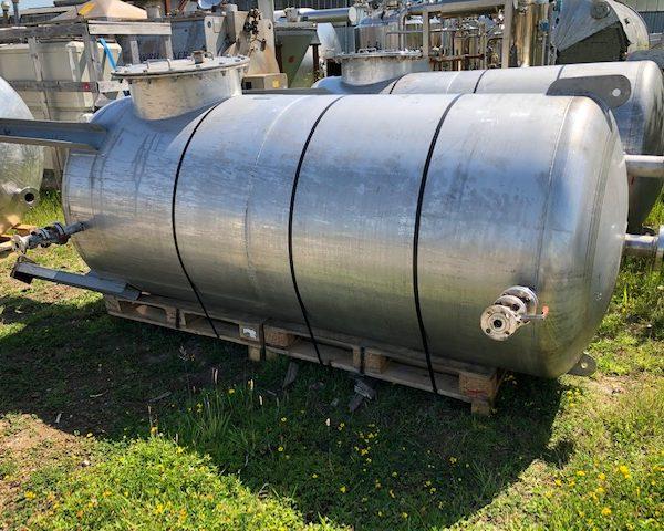 2,850 Litre 316L Stainless Steel Storage Vessel
