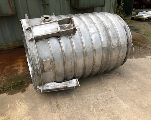 1,400 Litre Vertical Stainless Steel Jacketed Mixing Vessel, 1070mm Dia x 1500mm Straight Side