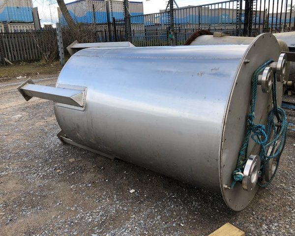 800 Litre Stainless Steel Vertical Tank, 850mm Dia x 1400mm Straight Side