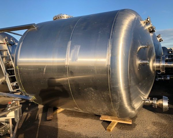 15,000 Litre Pontifex 316L Stainless Steel Vertical Storage Vessel, 2700mm Dia x 2400mm Straight Side