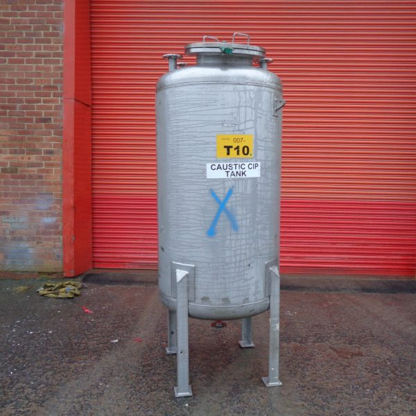 1,000 Litre Mcmillan Stainless Steel Vertical Storage Vessel, 900mm Dia x 1500mm Straight Side