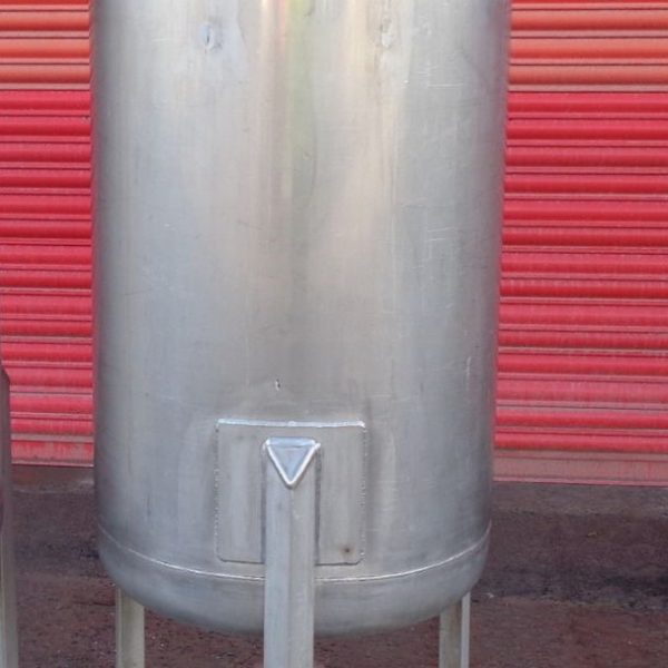 200 Litre Mcmillan Stainless Steel Vertical Storage Vessel, 600mm Dia x 1000mm Straight Side
