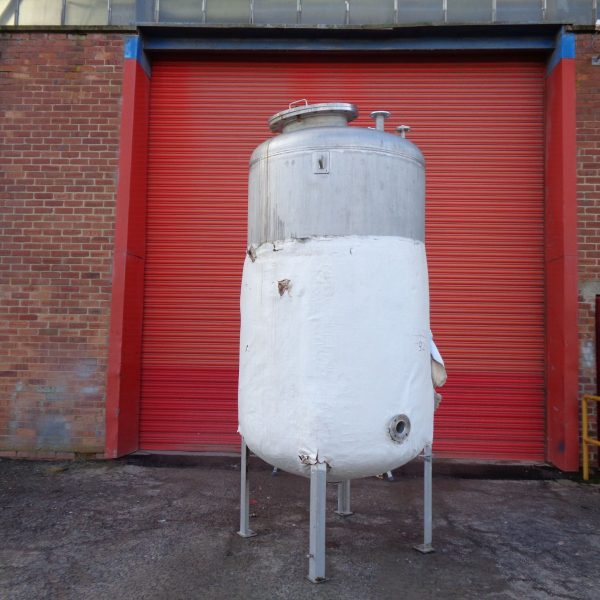 3,000 Litre Mcmillan Stainless Steel Vertical Storage Vessel, 1400mm Dia x 2000mm Straight Side