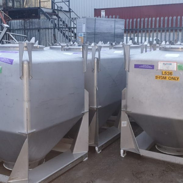 1000 Litre Matcon Stainless Steel IBC
