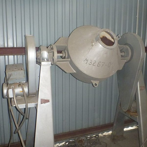 5 Cubic Foot Paul O. Abbe Carbon Steel Double Cone Blender