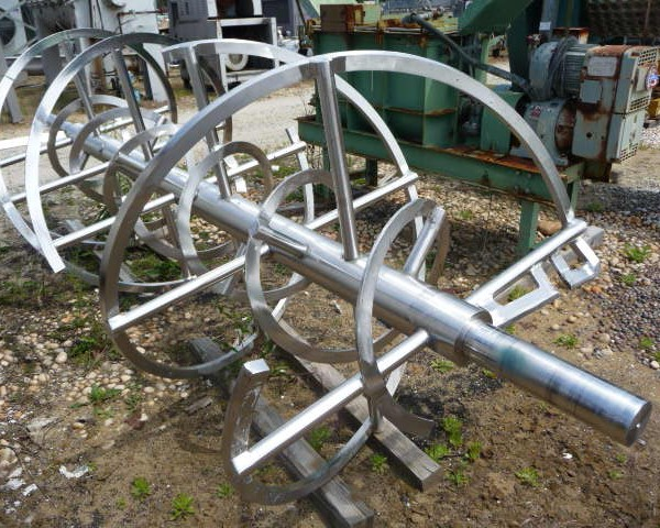 150 Cubic Foot Stainless Steel Double Ribbon