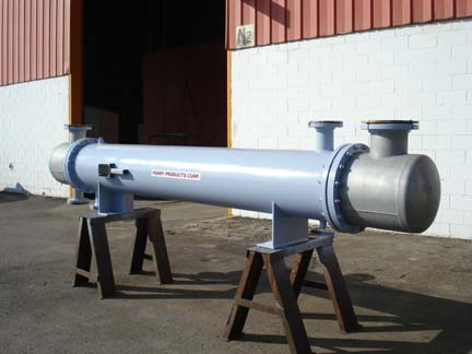 168 Sq.Ft New Perry Products Shell and Tube Heat Exchanger