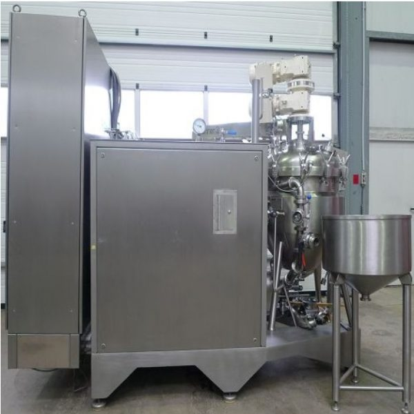 200 Litre 2 HP Stainless Steel Jacketed Vacuum Process Vessel