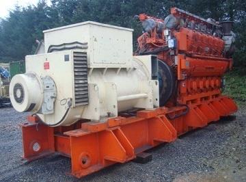 2400 kW 11000 Volts 50 Hz Waukesha Gas Fired CHP Plant