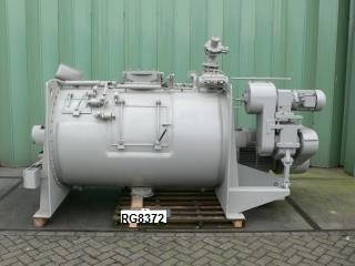 600 Litre Lödige Model FKM 600D 321 Stainless Steel Ploughshare Mixer Dryer