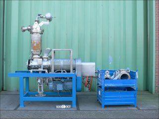 11″ X 2′ Krauss Maffei 316TI Stainless Steel Reactortherm Vacuum Paddle Mixer Dryer
