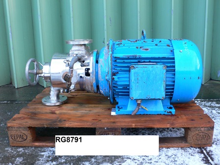 38 HP Fryma Model MZ-170R Stainless Steel Colloid Mill