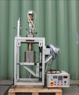 1 Litre 200 Bar Internal Haage Apparatebau GMBH Glass Lined Reactor