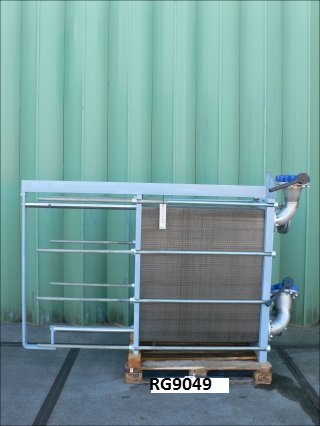146.8 Sq. M. API Schmidt-Bretten Sigma X49 SCL Stainless Steel Plate Heat Exchanger