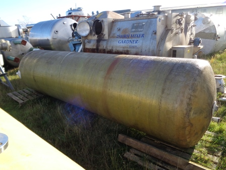 5,000 Litre Vertical Liquid Storage Tank, 1200mm Dia x 4250mm Straight Side