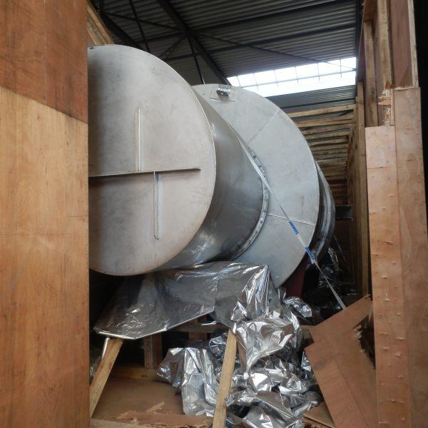 118″ X 25′ Andritz Stainless Steel Fluid Bed Dryer / Cooler